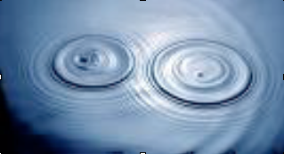 Two overlapping water waves