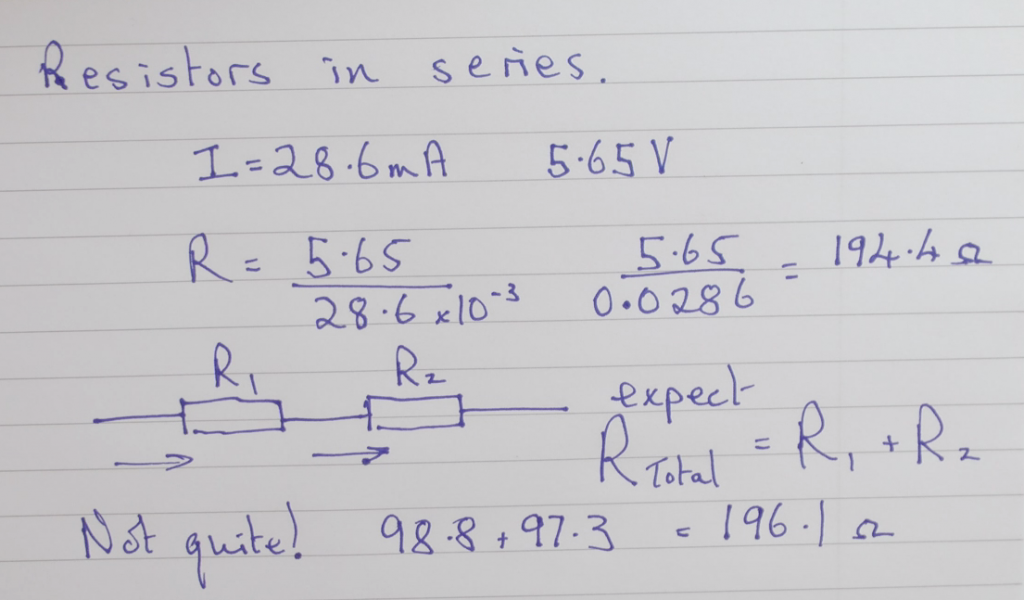Calculating the total resistance and comparing with individual resistors